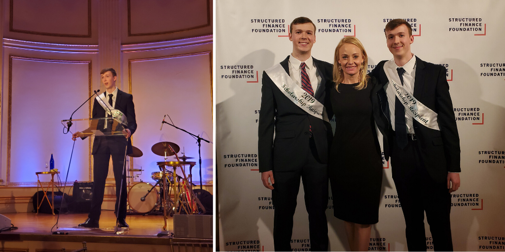 Scholarship recipients at the Structured Finance Association Benefit Dinner in New York City